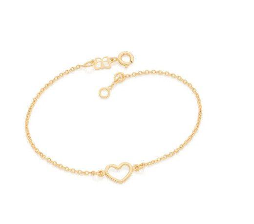 Pulseira Rommanel amor folheada a ouro - 551674