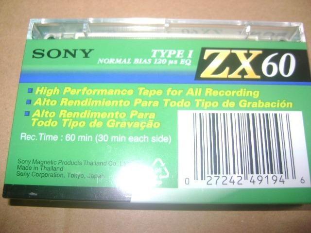 Fitas Cassete Sony ZX 60 lacradas - Foto 4