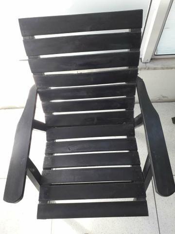 Conjunto de Cadeiras com mesinha Rústico - Foto 2