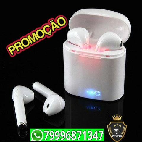 Fone De Ouvido i7s Para Iphone E Android Sem Fio Bluetooth Promoçao - Foto 2