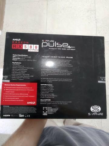 Placa de vídeo sapphire pulse radeon rx 580 8gb - Foto 3
