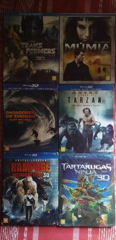 Vendo coleção de blu-ray vários títulos em 3d