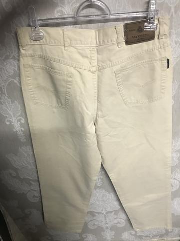 Calça sarja via Vêneto, masculina, tamanho 44, elegante - Foto 4