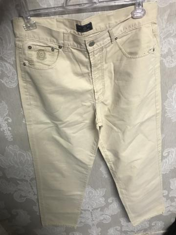 Calça sarja via Vêneto, masculina, tamanho 44, elegante - Foto 5