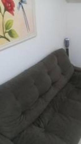 Sofá de Suede Marron 3 lugares - Foto 2