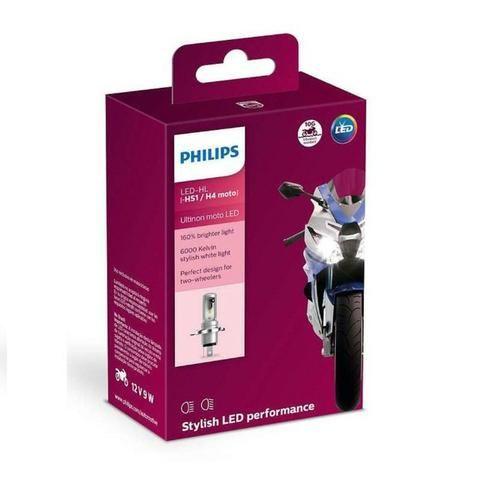 Lâmpada Moto Cg/ybr Philips Led H4 Correte Alternada +130% - Foto 3