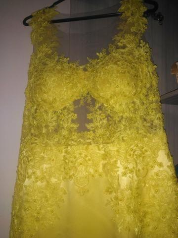 Vestido Festa Amarelo(Alta Costura) - Foto 6