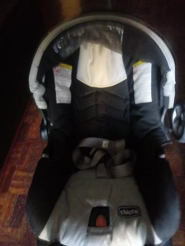 Carrinho + bebê conforto com base Chicco - Foto 3