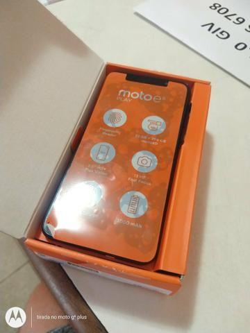 Moto E6 play azul / c/ biometria / novo / lacrado - Foto 4
