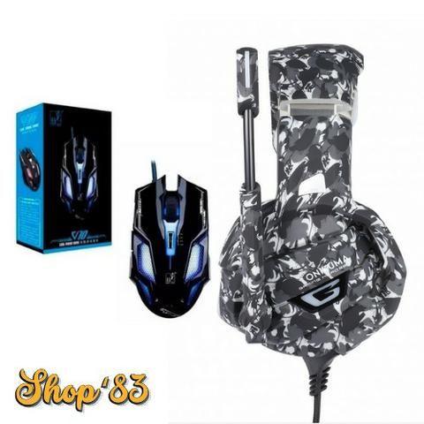Kit Gamer Headphone Profissional + Mouse - Promoção - Foto 3