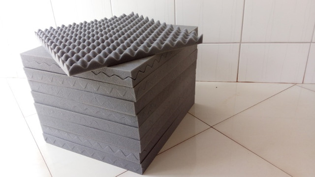 FL, espumas para isolamento acústico 50 x 44 x 3,5cm