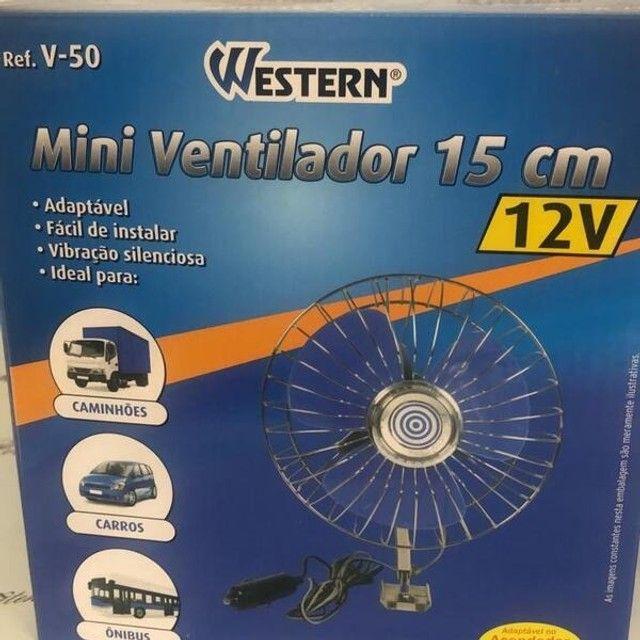 Ventilador Veicular Mini Portátil 15cm 12v