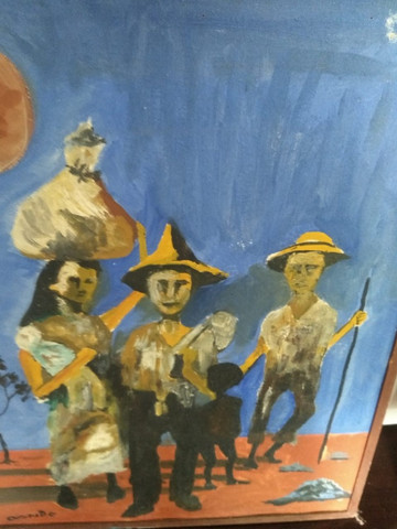 Pintura a óleo.   O retirante.  100 - Foto 3