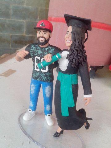 Caricaturas em bonecos,topo de bolo personalizado e miniaturas - Foto 3
