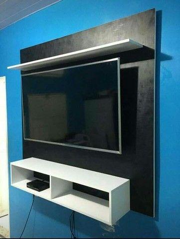 """Painel para tv de até 65""""polegadas novos temos de várias cores de MDF  - Foto 2"""