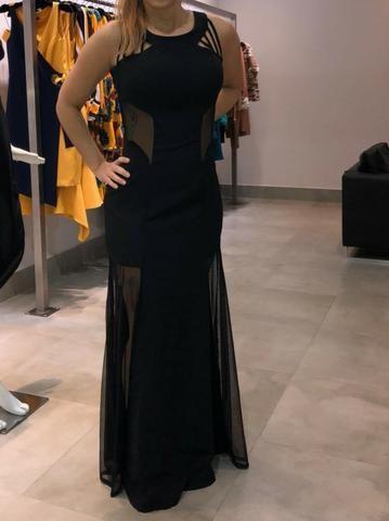 Vestido longo preto olx
