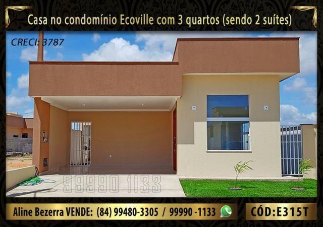 Oportunidade, casa no Ecoville com 3 quartos sendo 2 suítes, aceita financiamento