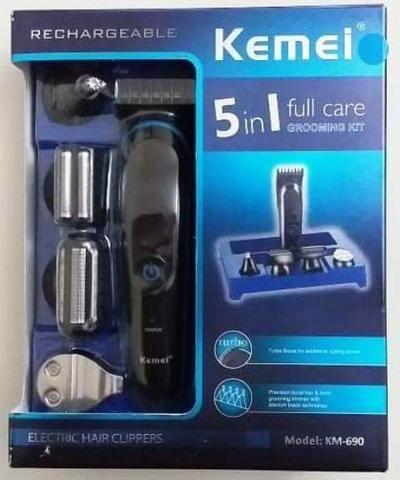 Máquina de Barbear Kemei 5em1