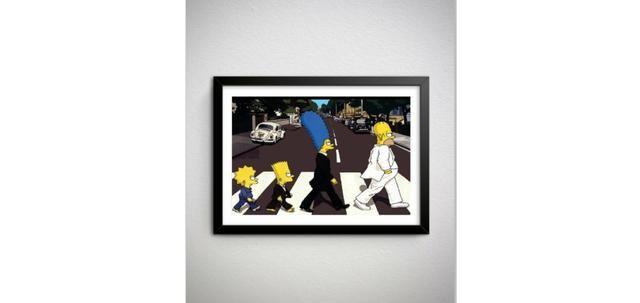 Quadro dos Simpsons (Beatles) - Novo
