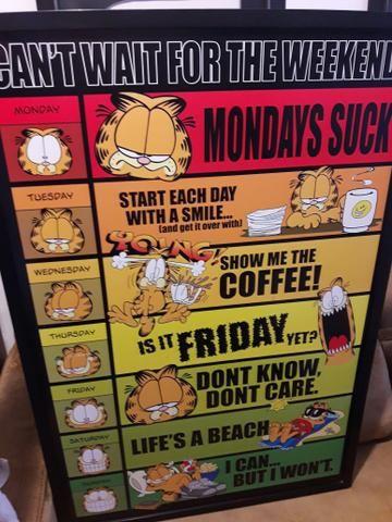 Poster do Garfield - Wall Street