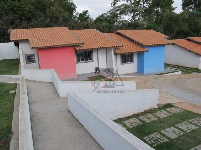 Casa nova 2 dormitorios, 1 suite, 2 vagas, piscina, em condominio Km 44 da Raposo. - Foto 14