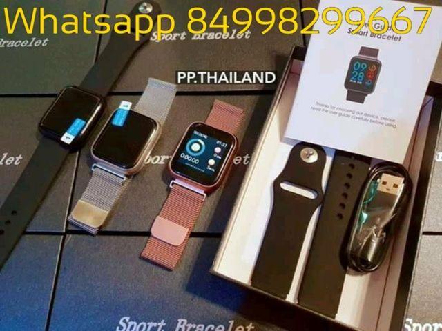 Relógio SmartWatch Inteligente P70 PRO a prova d água compatível com Android e iOS - Foto 2