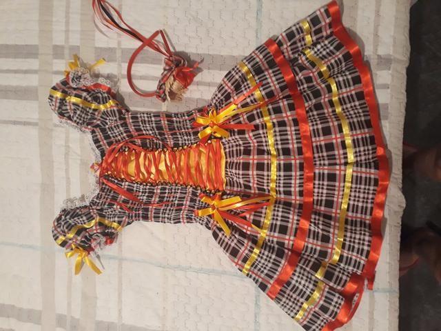 Vestido caipira com tiara - Foto 2