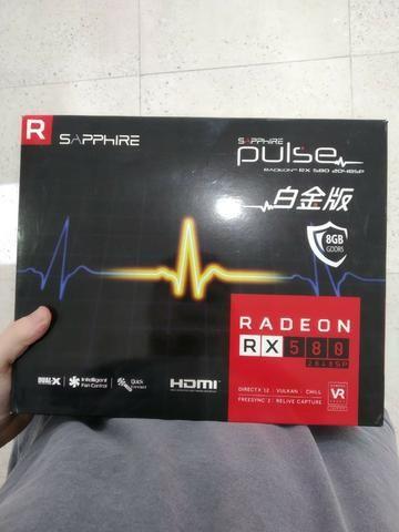 Placa de vídeo sapphire pulse radeon rx 580 8gb