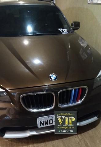 BMW X1 Sdriver 18i Marrom e bancos Bege - Foto 9