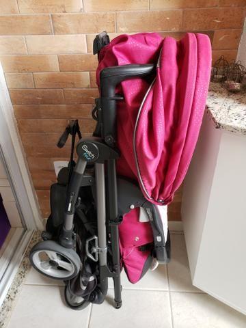 Kit carrinho Peg-Perego switch four + bebê conforto + forro almofadado sob medida - Foto 3