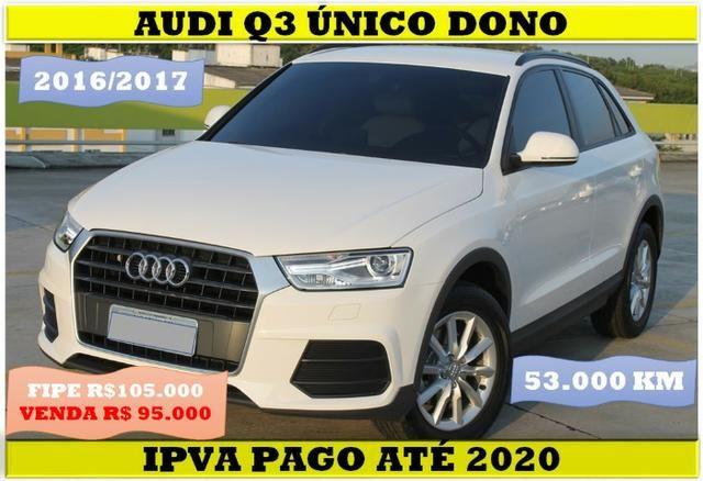 Audi Q3 1.4 Turbo 55.000km Único Dono 2016/2017 Ipva pago 95.000 a vista