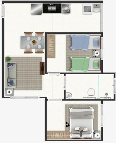 Apartamentos a Partir de R$ 117.000,00 - Columbia Residencial - Foto 11