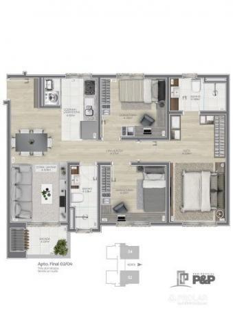 Apartamento à venda com 3 dormitórios em Planalto, Caxias do sul cod:11352 - Foto 13