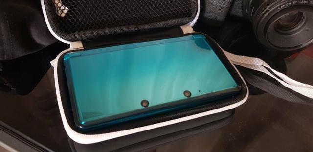 3DS Ocean Blue Destravado+case