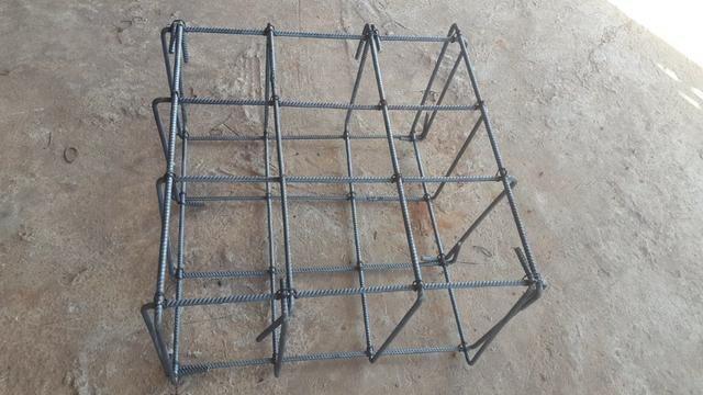 Gaiolas para construçao de sapatas