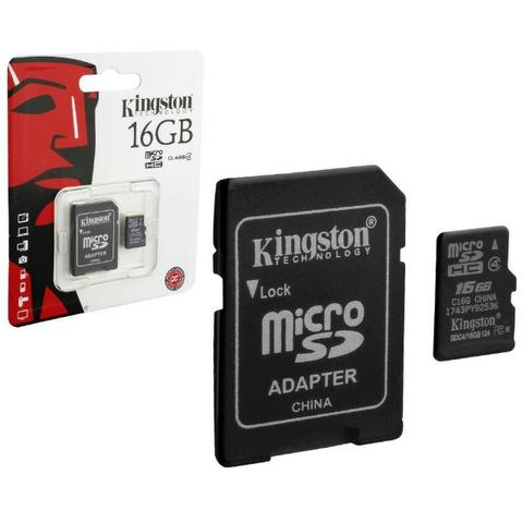 Cartão De Memória Kingston Micro Sdhc 16gb class 4