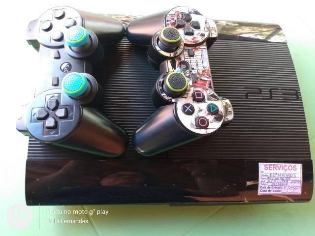 Playstation 3 com 30 jogos + 2 emuladores com 60 jogos - Foto 5