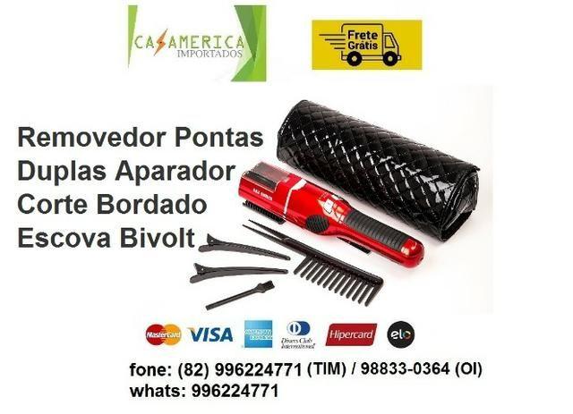 9269b70c8 Removedor Pontas Duplas Aparador Corte Bordado Escova Bivolt Umate (entrega  gratis)
