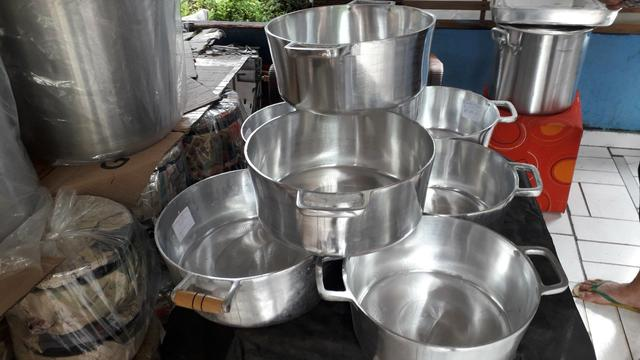Panelas de alumínio batido de todos tamanho - Foto 2