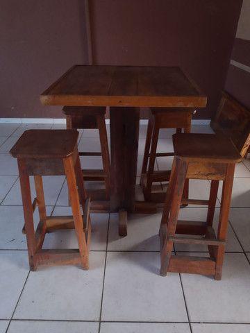 Mesa bistrô madeira de lei - Foto 2