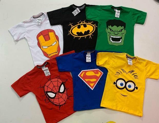 Camisetas infantil no atacado - Foto 3