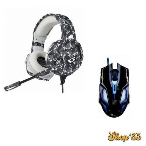 Kit Gamer Headphone Profissional + Mouse - Promoção - Foto 4