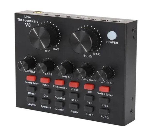 Placa De Som V8 Smart Multipurpose Live Interface De Áudio V8 1ra Geração