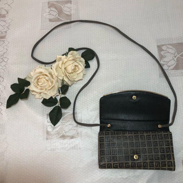 Carteira/bolsa em couro com alça  - Foto 5