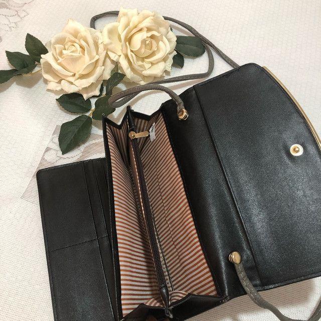 Carteira/bolsa em couro com alça  - Foto 3
