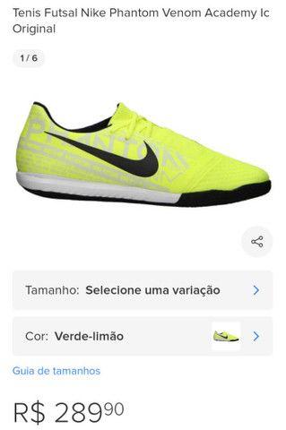 Tênis futsal Nike phantom