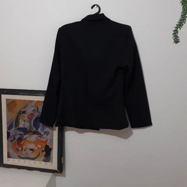 frete grátis - blazer chumbo (brechó) - Foto 4