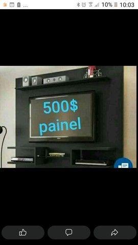 """Painel para tv de até 65""""polegadas novos temos de várias cores de MDF  - Foto 4"""