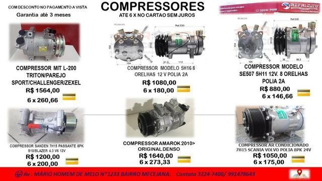 Compressores para ar-condicionado automotivo