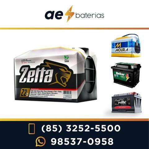 Bateria 60Ah Zetta, para diversos tipos de carros